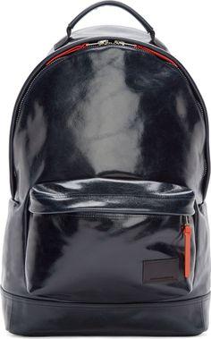 Krisvanassche Navy Patent Leather Backpack