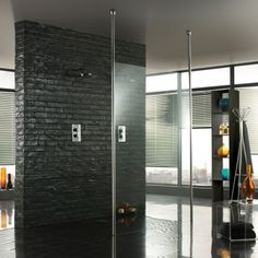 For the ultimate minimalist Wet room Walk through shower this is it. Fabulous if you have a big bathroom.