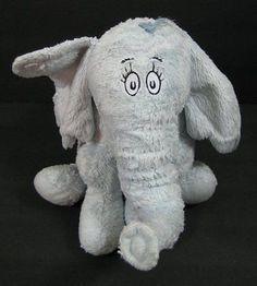 "11"" Blue HORTON ELEPHANT Dr Seuss Plush Kohls Stuffed Animal Toy B234"