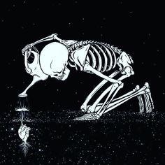 "skull-heads: ""The Caretaker. "" aesthetic gif Witchcraft For The Weather Witch Flower Quotes Love, Skeleton Art, Skeleton Bones, Psy Art, Geniale Tattoos, Nature Tattoos, Skull Art, Dark Art, Artsy Fartsy"