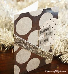 Sparkly New Year's Card by Stephanie Halinski