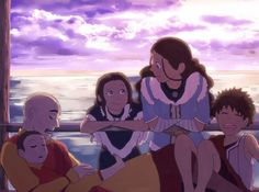 Aang and Katara with their kids :')