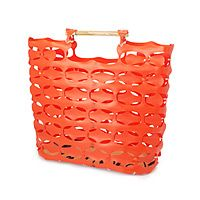 Recycled Construction Fence Tote.  They recycle everything these days!