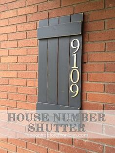 House Number Shutters - this is an awesome and easy DIY that is great for beginners and adds a fun touch to the front of your house!!