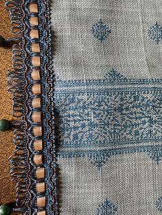 Peter Dunham Motif Textiles Fez in Blue Table Runner/ Easter gift/Mother's Day Gift