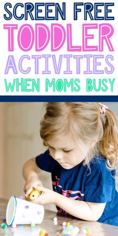 Easy outside the box toddler activities to help mom keep toddler busy and entertained through the day. Practical Parenting, Good Parenting, Parenting Hacks, Educational Games For Kids, Learning Activities, Toddler Activities, Youtube Kids Music, Finger Painting For Toddlers