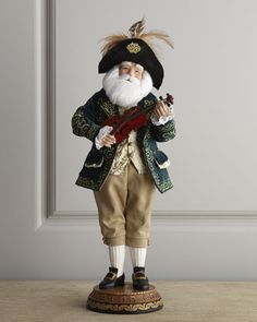 """""""French Musician"""" Santa Claus by NM EXCLUSIVE at Horchow."""