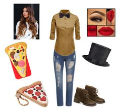 """""""Fem Freddy"""" by batcat20 on Polyvore featuring Steve Madden, LE3NO, BOSS Black and Betsey Johnson"""