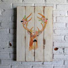 woodpainting 40 x 60 x 2 cm  #woodsign #painting #homedecoration #homeandliving #jogja #vintage #interior #livingroom #homedesign #deer