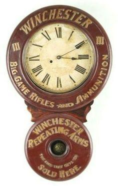 RARE Original Winchester Rifles & Ammunition Baird Advertising Clock