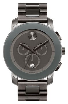 Movado 'Large Bold Chronograph' Bracelet Watch.