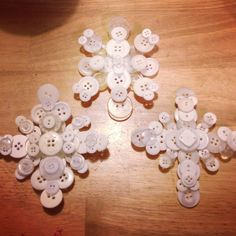 Snowflake button ornaments