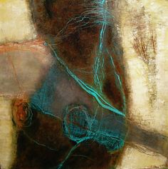 She Lied by Jean Myers Mixed media on board
