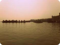 Boats near India Gate, Mumbai, India