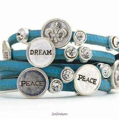 teal leather wrap bracelet by Just Jewelry My Christmas Wish List, Costume Jewelry, Cufflinks, Fashion Jewelry, Teal, Product Launch, Jewels, Purses, My Style