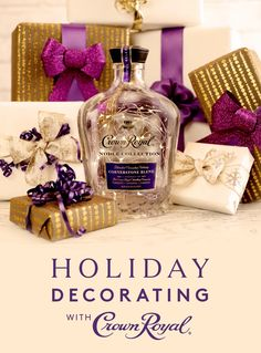 Crown Royal makes for a great gift and DIY craft project! After you're done enjoying the sweet caramel notes and gentle woody spice of this Cornerstone Blend whisky, turn your bottle into a holiday decoration. An extraordinary gesture, this superior blend is a combination of our three most essential whiskies, and should be given to your closest family and friends.