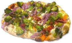 Pinsa gourmet: n'duja, cipolla carammellata di Tropea e broccoli