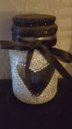 Made by myself glitter candle holder