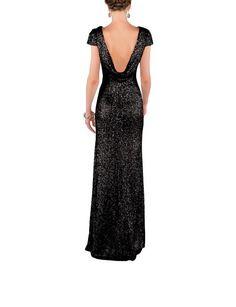 DescriptionSorella Vita Modern Metallic Style 8718Fulllength bridesmaid dressBoatneckCowl backCap sleeveMatte sequin