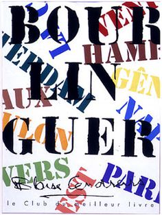 Robert Massin - bookstores across the country have been shutdown because of the war, and he became one of the principal figures of the book design revolution of the 1950s. As an independent graphic artist, he has designed thousands of covers and jackets, and many layouts of books and poster