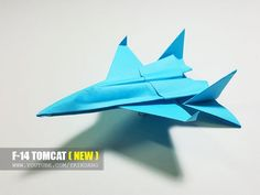 BEST ORIGAMI PAPER JET - How to make a paper airplane model for Kids | F-14 Tomcat - YouTube