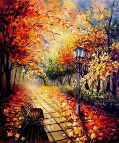 Схема вышивки «Йовка Мечкарова. Есенна алея» - Схемы автора «Kuzminichna» - Вышивка крестом