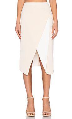 C/MEO The Graduation Skirt in Cream & Ivory
