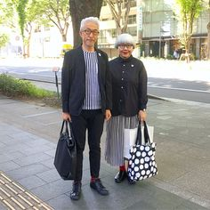 Image may contain: 2 people, people standing and outdoor Matching Couple Outfits, Matching Couples, Style Stealer, Tap Dance, Fashion Couple, Head To Toe, Mix Match, Kimono, Normcore