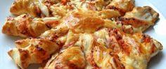 Recept Listová kytička se sýrem a šunkou Food And Drink, Meat, Chicken, Cubs