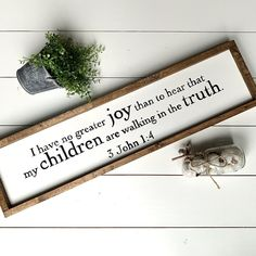 No Greater Joy Custom Wood Signs, Do Everything, Gift Tags, Joy, Design, Glee, Being Happy, Gift Ideas