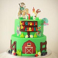 Las más lindas tortas de la granja de Zenón Farm Cake, Birthday Cake, Birthday Parties, Farm Theme, First Birthdays, Kids, Food, Decorating Cakes, Mickey Mouse Birthday