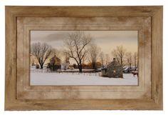 Quaint Winter Homes Landscape, Art