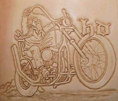 Leather Carving, Leather Art, Custom Leather, Leather Design, Leather Tooling, Leather Working Patterns, Knife Patterns, Bike Leathers, Metal Art Sculpture