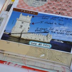 writing your stories on the postcards...  Mary Ann Moss