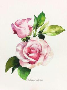 watercolor flower 3