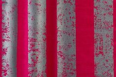Smudge Stripe from Florence Broadhurst via Signature Prints #fabric #silk #red #grey
