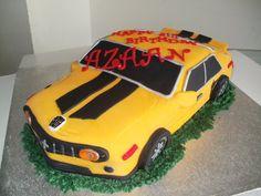 Bumble Bee Transformer Birthday Cake