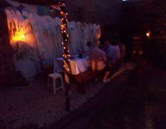 Iluminación exterior: velas+luces navidad