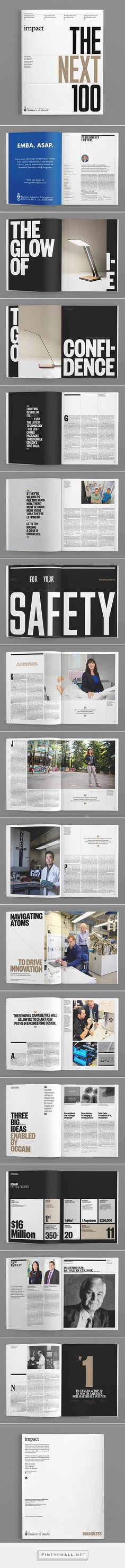 This magazine layout uses three columns. I love how theres a lot of images and enough space to put information. Its a really simple layout, its not a whole mess, it gives it a elegant look. Design Brochure, Booklet Design, Brochure Layout, Graphic Design Layouts, Book Design Layout, Print Layout, Graphic Design Inspiration, Editorial Design, Editorial Layout