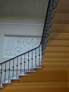 detail of Great Staircase in Kedleston Hall - Robert Adam