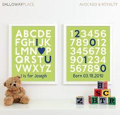 Baby Boy Nursery Decor Boys Nursery Art Baby Boy by DallowayPlace