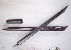 This fountain pen is designed to lie comfortably in the hand, while keeping the concept of a faceted shape.