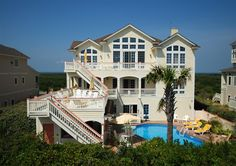 Utopia of Pine Island - 9 bedrooms in Pine Island...love the huge deck overlooking the ocean and pool!