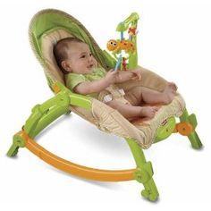 Fisher-Price Newborn-To-Toddler Portable Rocker, Lizards, (rocker, baby seat, baby, baby bouncer, fisher-price, bouncer, seat, amazon kids, baby rocker, fisher price)