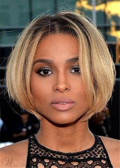 Short Bob Middle Parted Synthetic Hair Straight Wig 12 Inches Short Bob Middle Parted Synthetic Hair Choppy Bob Hairstyles, Short Hairstyles For Women, Straight Hairstyles, Black Hairstyles, Trending Hairstyles, Hairstyles 2016, Everyday Hairstyles, Formal Hairstyles, Afro Hairstyles