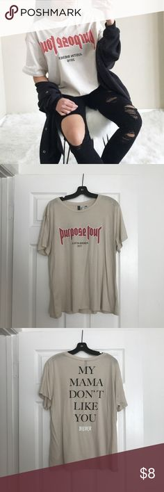 HM X PURPOSE TOUR TEE Worn once and still in great condition H&M Tops Tees - Short Sleeve