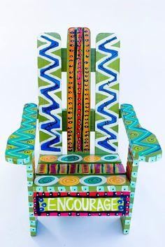 Hand-painted Adirondack Chair