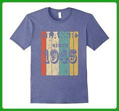 Mens 1945 Classic Vintage T-Shirt 72 yrs old Bday 72nd Birthday 3XL Heather Blue - Birthday shirts (*Amazon Partner-Link)