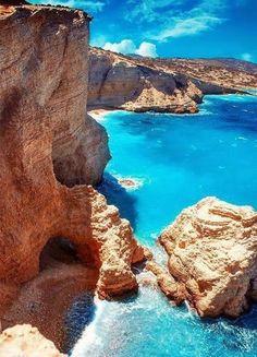 Turquoise Sea, Koufonisia Islands, Greece photo via south