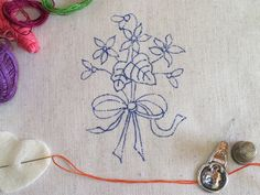 Embroidery pattern - Violets